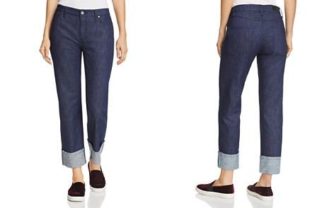 Kenneth Cole Wide-Cuff Boyfriend Jeans in Raw - Bloomingdale's_2