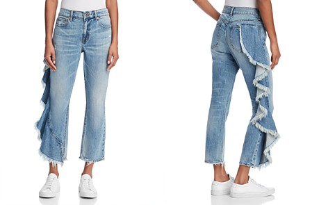 Pistola Lennon Side-Ruffle Frayed Jeans in Take A Chance - 100% Exclusive - Bloomingdale's_2