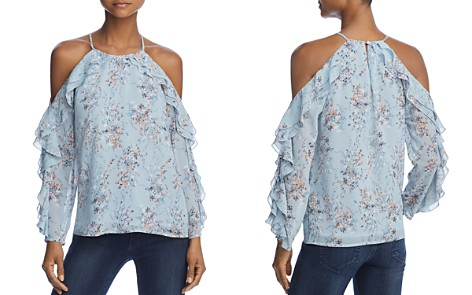 AQUA Ruffled Floral Cold-Shoulder Top - 100% Exclusive - Bloomingdale's_2