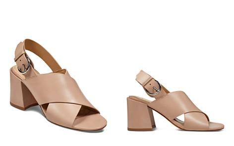 Marc Fisher LTD. Women's Hocie Leather Slingback Block Heel Sandals - Bloomingdale's_2