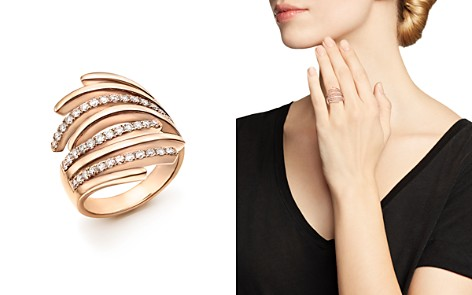 Bloomingdale's Diamond Multi Row Bypass Statement Ring in 14K Rose Gold, 0.75 ct. t.w. - 100% Exclusive _2