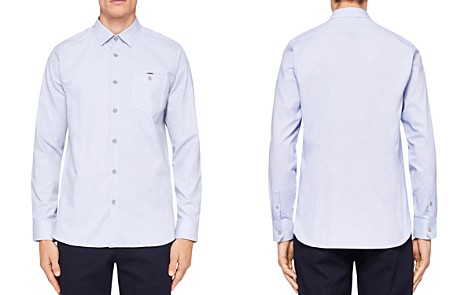 Ted Baker Stapal Textured Regular Fit Button-Down Shirt - Bloomingdale's_2