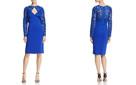 Tadashi Shoji Crochet Overlay Dress - Bloomingdale's_2