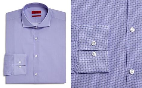 HUGO Micro Circle Slim Fit Dress Shirt - Bloomingdale's_2