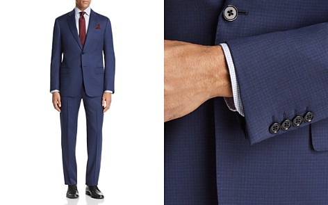 Emporio Armani Subtle Solid Check Regular Fit Suit - Bloomingdale's_2