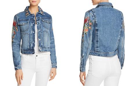 Hudson Embroidered Denim Jacket in Provoke - Bloomingdale's_2