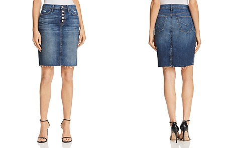 Hudson Remi Denim Pencil Skirt in Confessions - Bloomingdale's_2