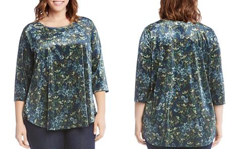Karen Kane Plus Floral-Print Velvet Top - Bloomingdale's_2