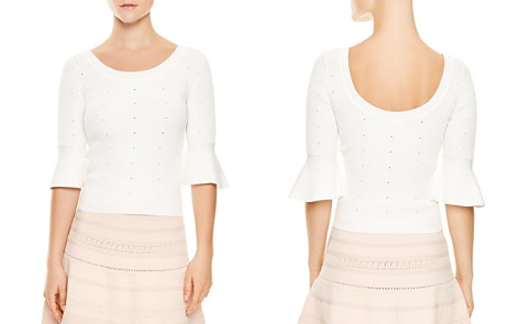 Sandro Nuala Eyelet-Detail Flared-Cuff Sweater - Bloomingdale's_2