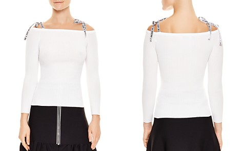 Sandro Rayann Off-the-Shoulder Graphic-Strap Sweater - Bloomingdale's_2