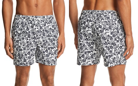 Original Penguin Nintendo Mario Camo Swim Trunks - 100% Exclusive - Bloomingdale's_2