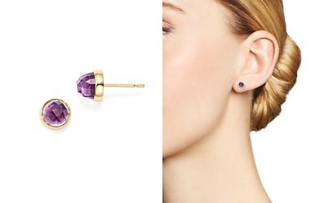 Bloomingdale's Faceted Gemstone Stud Earrings in 14K Yellow Gold - 100% Exclusive _2