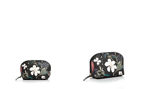 kate spade new york Cameron Street Botanical Abalene Small Saffiano Leather Cosmetic Case - Bloomingdale's_2