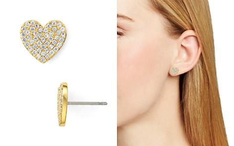 kate spade new york Pavé Heart Stud Earrings - Bloomingdale's_2