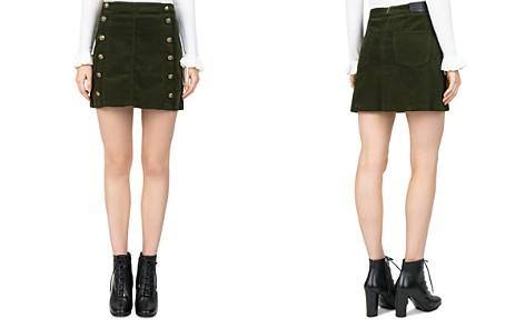 The Kooples Button-Detail Velvet Skirt - Bloomingdale's_2