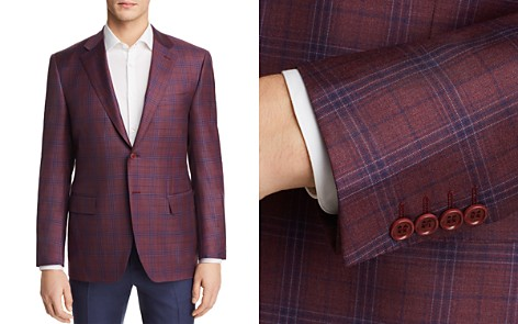 Canali Plaid Regular Fit Sport Coat - Bloomingdale's_2