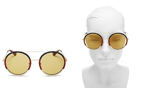Gucci Women's Color Block Round Sunglasses, 56mm - Bloomingdale's_2