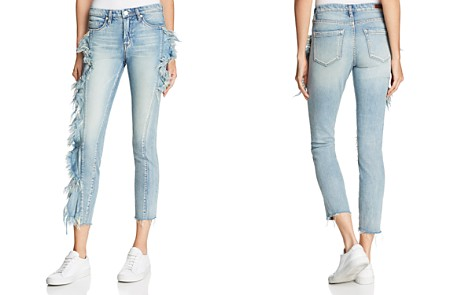 BLANKNYC Ruffled Cropped Straight-Leg Jeans in Good Call - Bloomingdale's_2