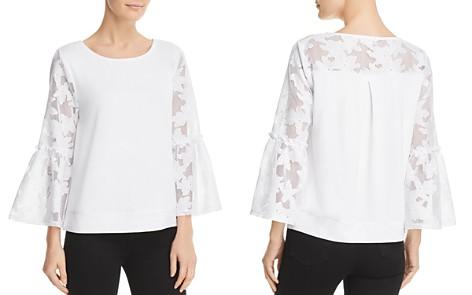 Cupio Floral Lace Bell Sleeve Top - Bloomingdale's_2