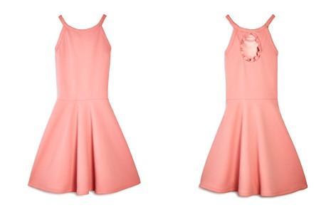 AQUA Girls' Textured Keyhole-Back Dress, Big Kid - 100% Exclusive - Bloomingdale's_2