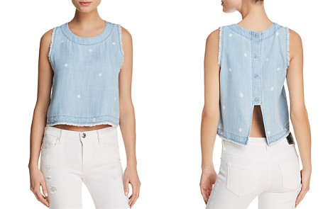 Bella Dahl Fringed Button-Down-Back Top - Bloomingdale's_2