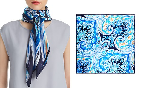 Echo Painterly Paisley Silk Square Scarf - 100% Exclusive - Bloomingdale's_2