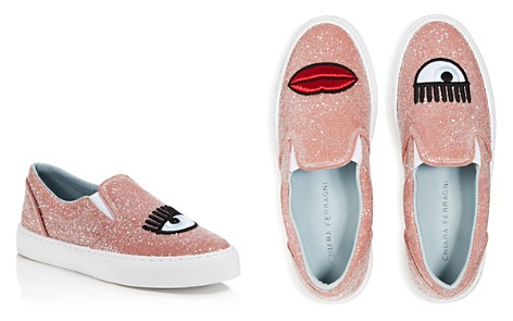 Chiara Ferragni Women's Embroidered Glitter Slip-On Sneakers - Bloomingdale's_2