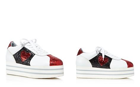 Chiara Ferragni Women's Leather & Glitter Heart Platform Sneakers - Bloomingdale's_2
