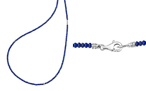 "LAGOS Sterling Silver Caviar Icon Lapis Five Station Strand Necklace, 34"" - Bloomingdale's_2"
