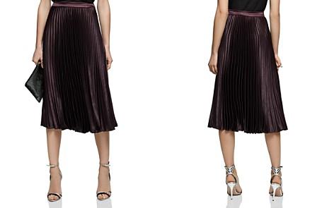 REISS Alisa Metallic Pleated Skirt - Bloomingdale's_2