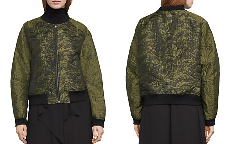 BCBGMAXAZRIA Gibson Quilted Camo Jacquard Bomber Jacket - Bloomingdale's_2