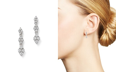 Bloomingdale's Diamond Cluster Drop Earrings in 14K White Gold, 0.50 ct. t.w. - 100% Exclusive _2
