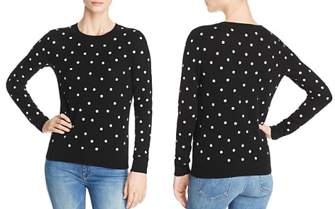 C by Bloomingdale's Polka Dot Lightweight Cashmere Sweater - 100% Exclusive _2