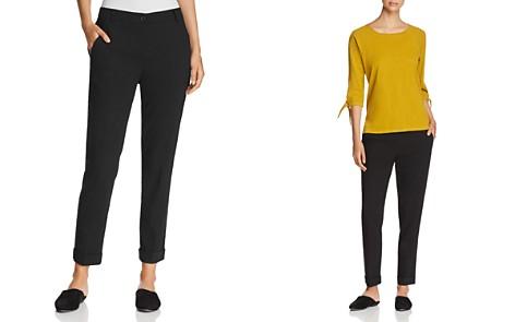 Eileen Fisher Petites Slim Cuffed Ankle Pants - Bloomingdale's_2