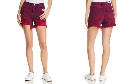 BLANKNYC High-Rise Distressed Denim Shorts in Magenta Glow - Bloomingdale's_2