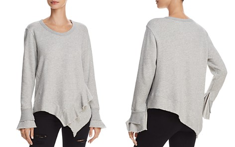Wilt Ruffled Asymmetric Sweatshirt - Bloomingdale's_2