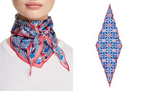 Echo Coastal Tile Print Silk Diamond Scarf - Bloomingdale's_2