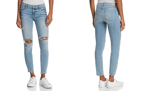PAIGE Hoxton Ankle Skinny Jeans in Janis Destructed - Bloomingdale's_2