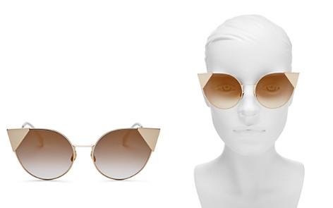 Fendi Women's Mirrored Cat Eye Sunglasses, 57mm - Bloomingdale's_2