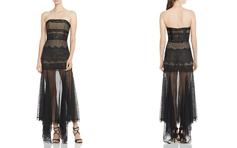 HALSTON HERITAGE Strapless Lace Gown - Bloomingdale's_2