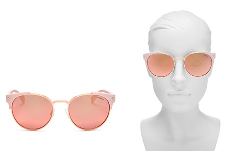 Polaroid Women's Polarized Mirrored Round Sunglasses, 56mm - Bloomingdale's_2