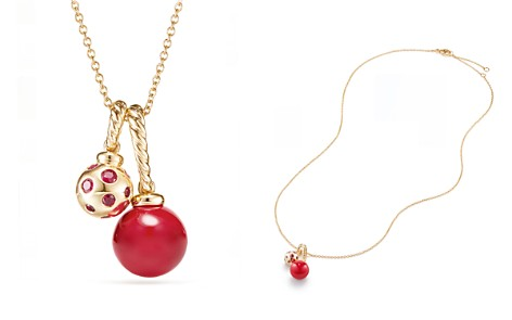 David Yurman Solari Pendant Necklace in 18K Gold with Cherry Amber - Bloomingdale's_2
