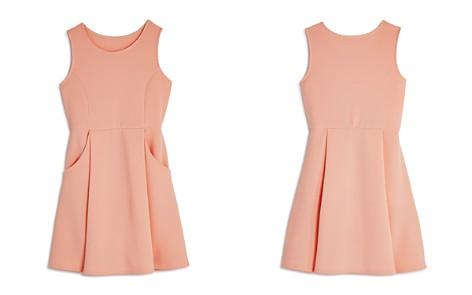 AQUA Girls' Textured Pleated Dress, Big Kid - 100% Exclusive - Bloomingdale's_2