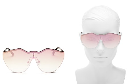 Le Specs Noir de Vie Mirrored Shield Sunglasses 143mm - Bloomingdale's_2