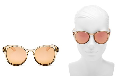 Le Specs Women's Paramount Mirrored Round Sunglasses, 53mm - Bloomingdale's_2