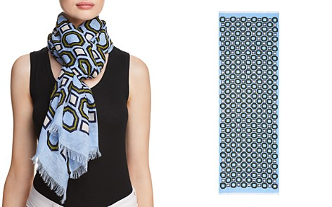 Tory Burch Octagon Print Oblong Scarf - Bloomingdale's_2