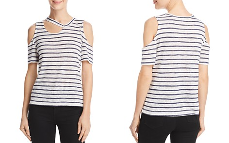 LNA Avalanche Cutout Striped Tee - Bloomingdale's_2