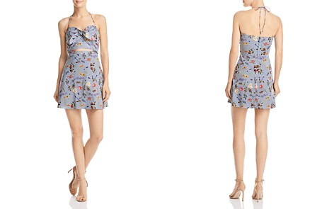 Bailey 44 English Garden Floral Print Striped Halter Dress - Bloomingdale's_2