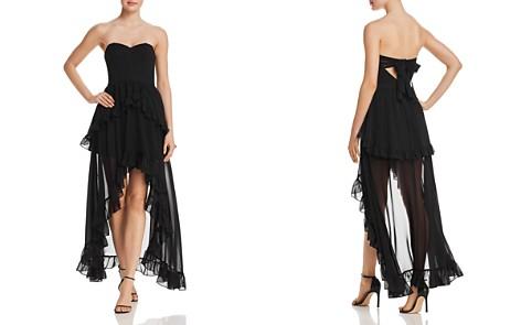 AQUA Strapless Ruffled Maxi Dress - 100% Exclusive - Bloomingdale's_2