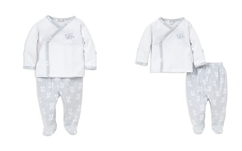 Kissy Kissy Boys' Embroidered Giraffe Shirt & Footed Pants Take Me Home Set, Baby - 100% Exclusive - Bloomingdale's_2